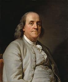 Benjamin Franklin quote on saving money.