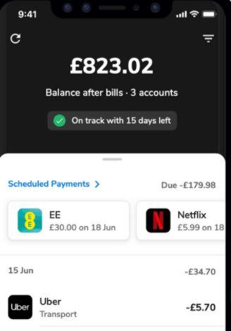 Money Dashboard app - best budegeting apps.