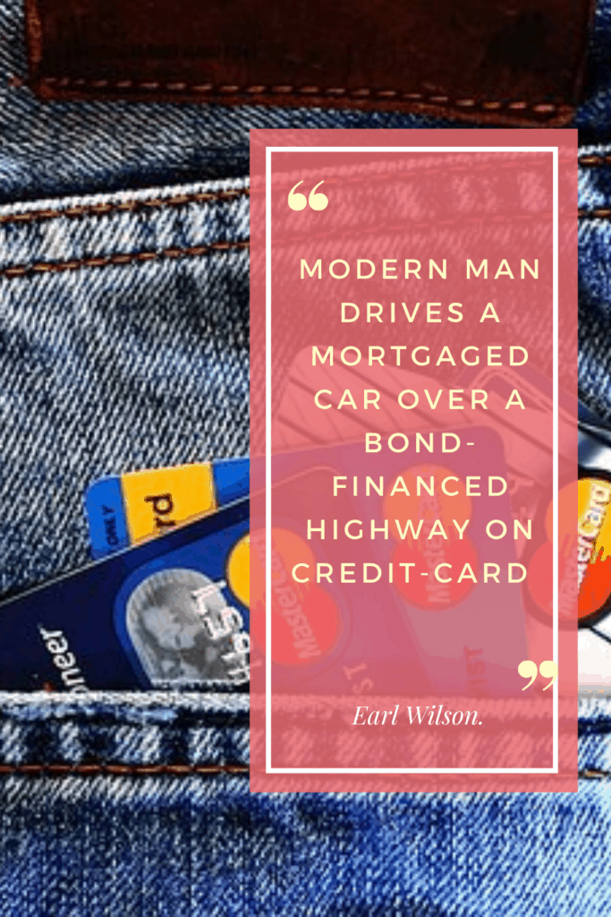 Credit Card Qoute from Earl Wilson