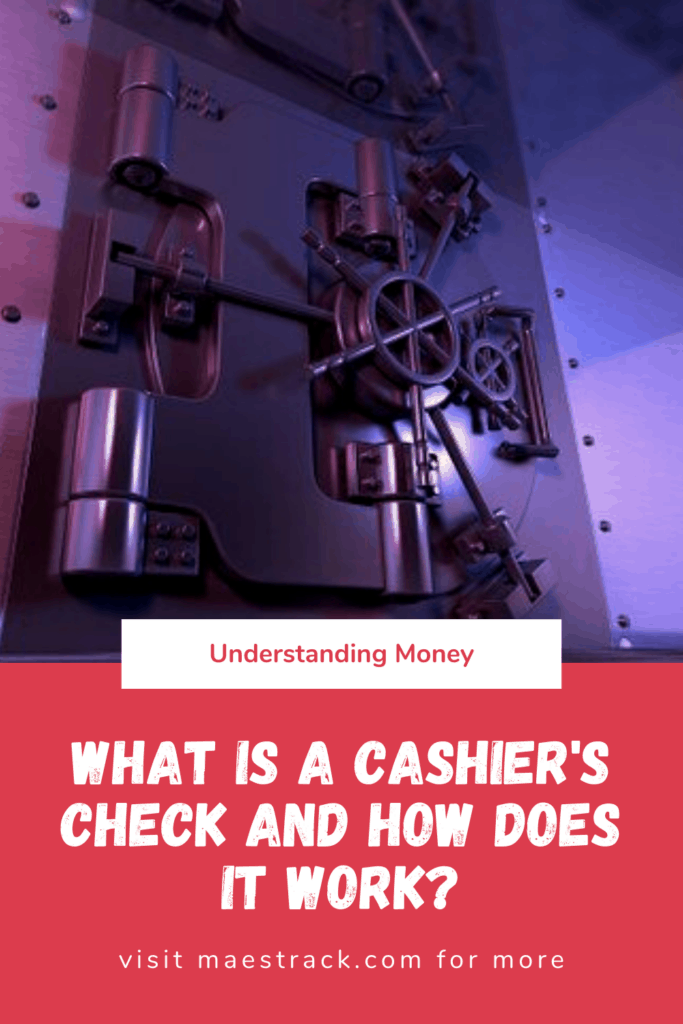 what is a cashier's check and how does it work